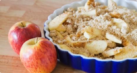Æblekage med smuldredej - glutenfri æblekage