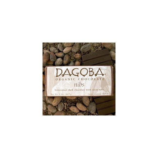 Nibs 68 % - DAGOBA økologisk chokolade x 12