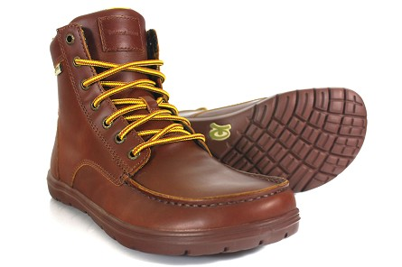 Lems Boulder Boot Leather Raven & Russet